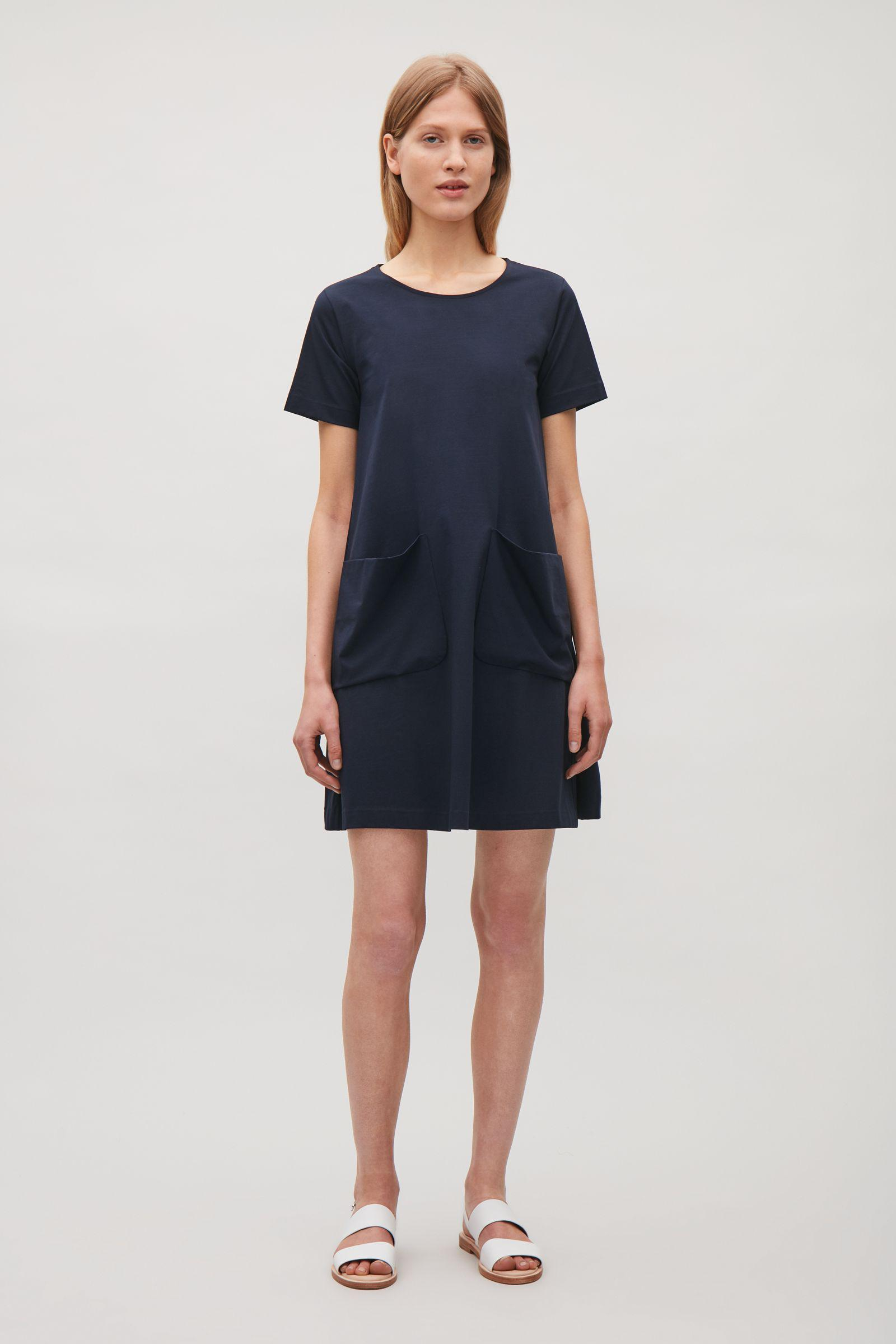 d75c0a6bcf Lyst - COS A-line Jersey Dress in Blue