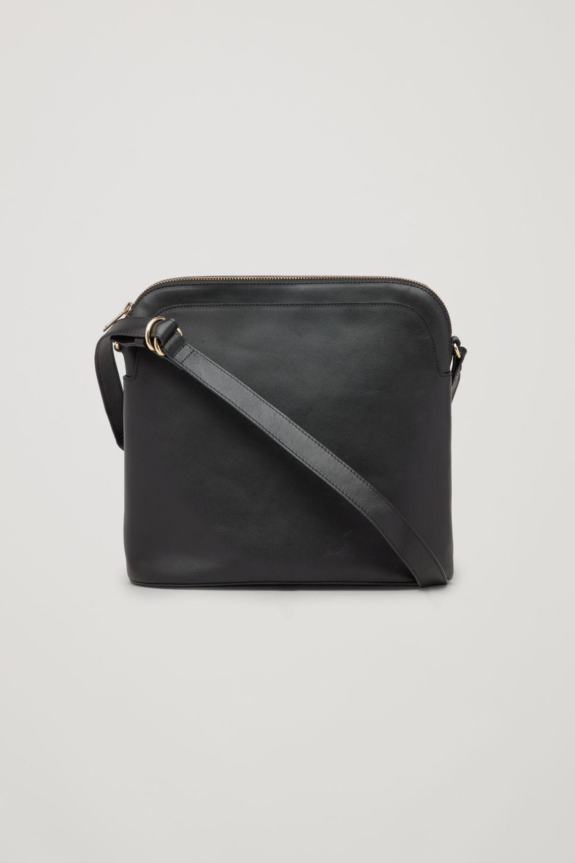 Cos Women S Black Medium Leather Crossbody Bag