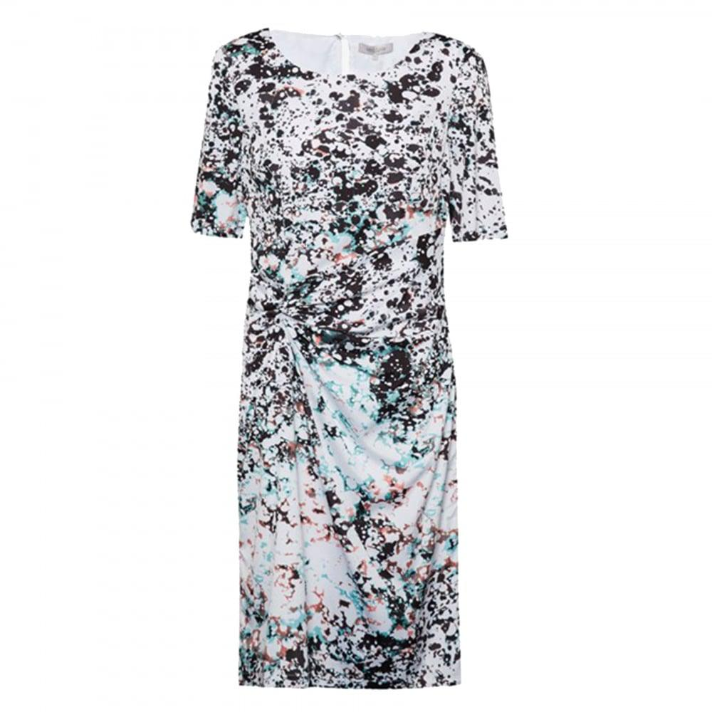 d11222823cad Lyst - Great Plains Miquita Marble Rouched Womens Dress in Black