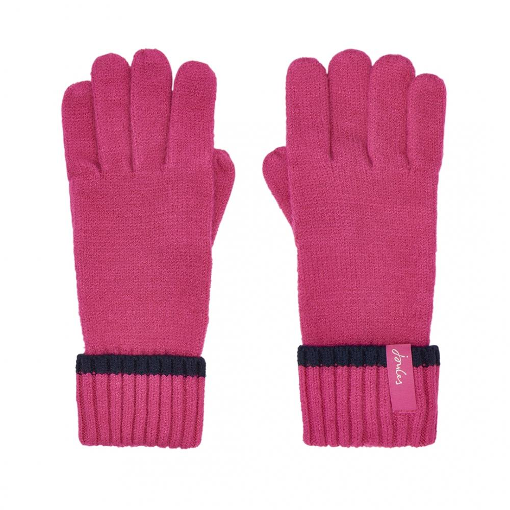 f7faefc24 Joules Anya Womens Chenille Gloves S/s in Pink - Lyst
