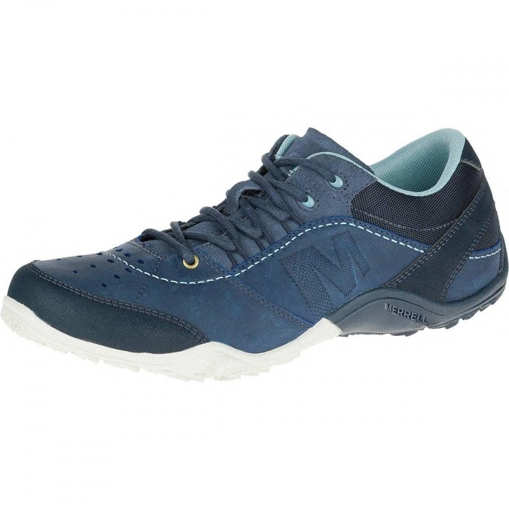 Navy Blue Leather Merrel Shoes