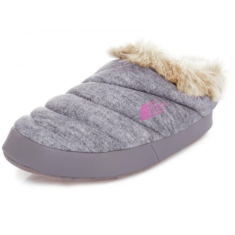 e8752486ea5 Lyst - The North Face Nse Tent Mule Faux Fur Ii Ladies Slipper in Gray