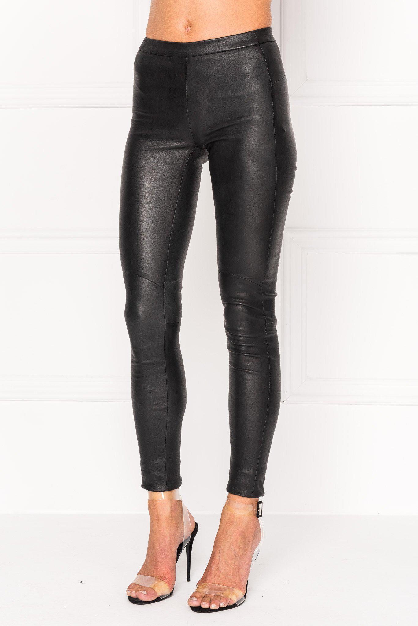 1f2d8d4b20f050 Lamarque - Black Kelly Stretch Leather Legging - Lyst. View fullscreen