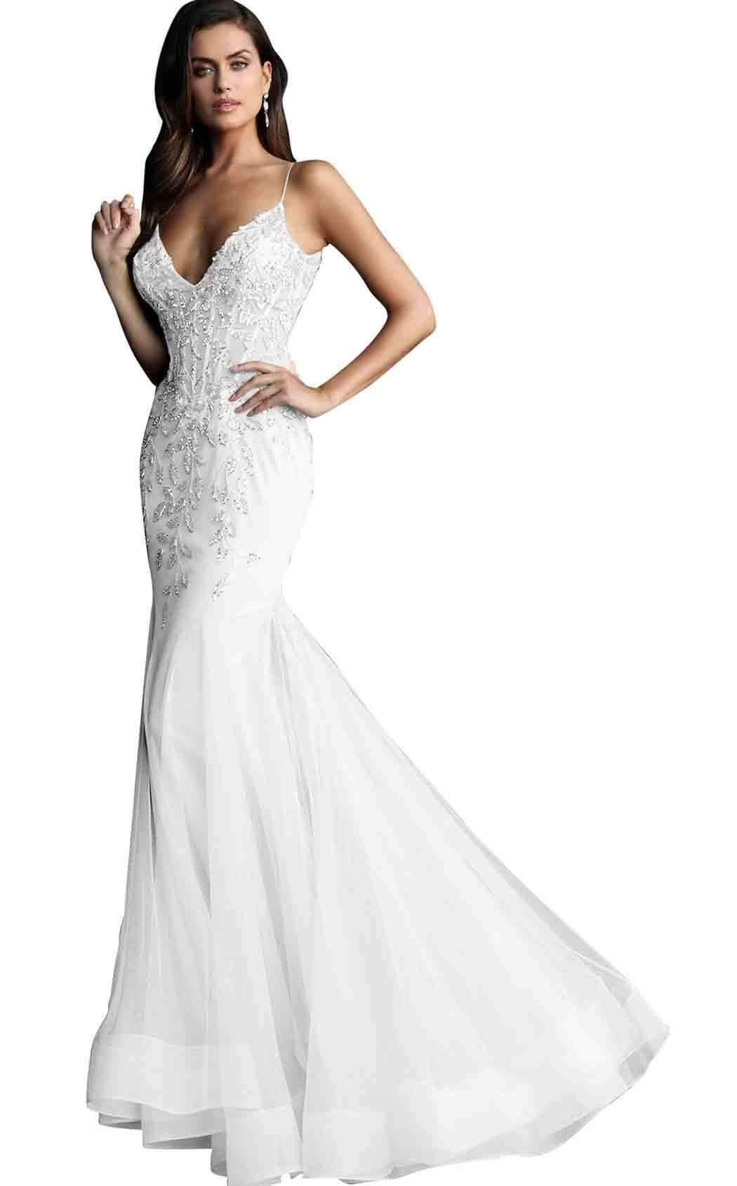 c20892b9766 Jovani 63704 Corset V Neck Spaghetti Strap Mermaid Prom Dress in ...