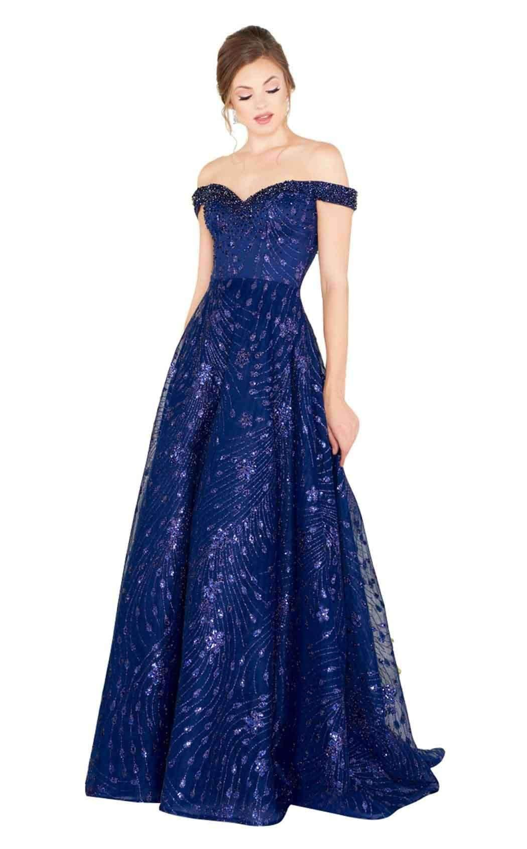00b2841355 Lyst - Mac Duggal Couture Dresses Style 80675d in Blue - Save 13%