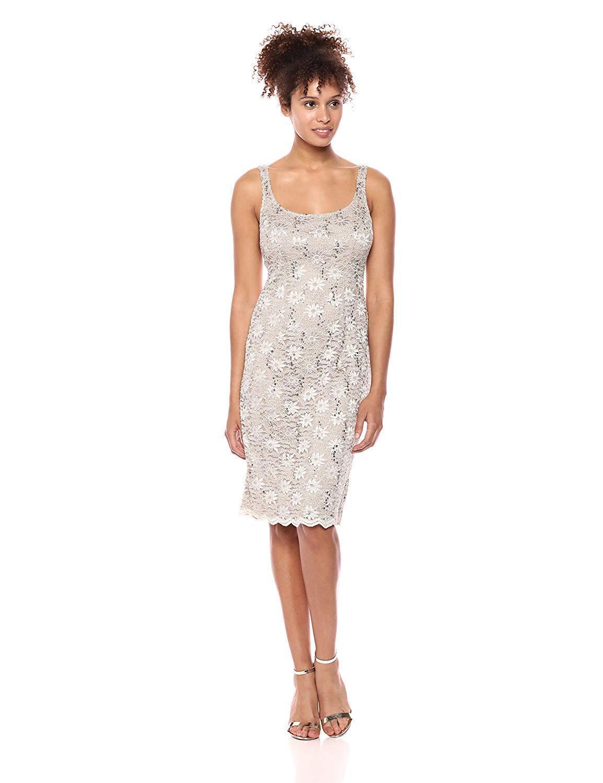 Alex Evenings 1122090 Allover Lace Sequin Dress With Bolero
