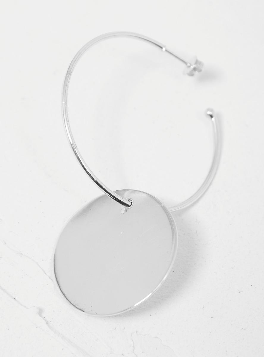 Jumbo Disc Hoops Earrings Lyst View Fullscreen