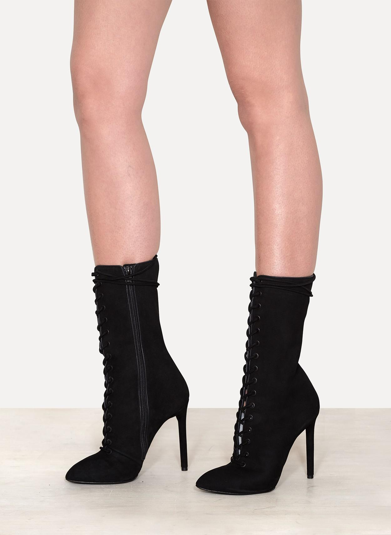 1478bce5ed7 Yeezy Lace Up Suede Boot in Black - Lyst