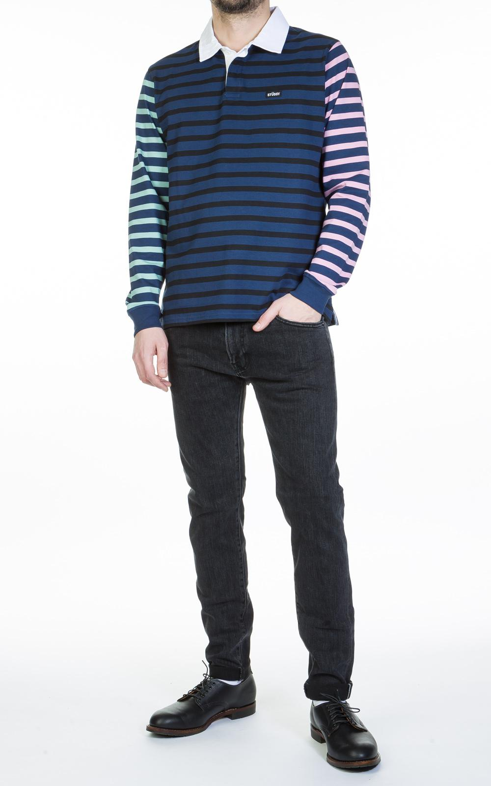 67e3caf24a0 Stussy Jonah Stripe Ls Rugby Navy in Blue for Men - Lyst