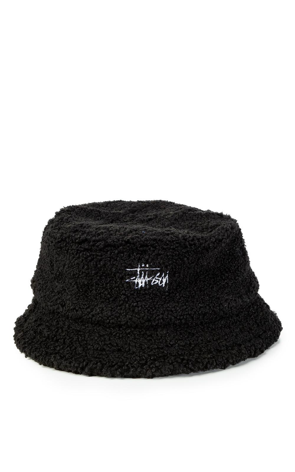 76a3530094d Lyst - Stussy Sherpa Fleece Bucket Hat Black in Black for Men