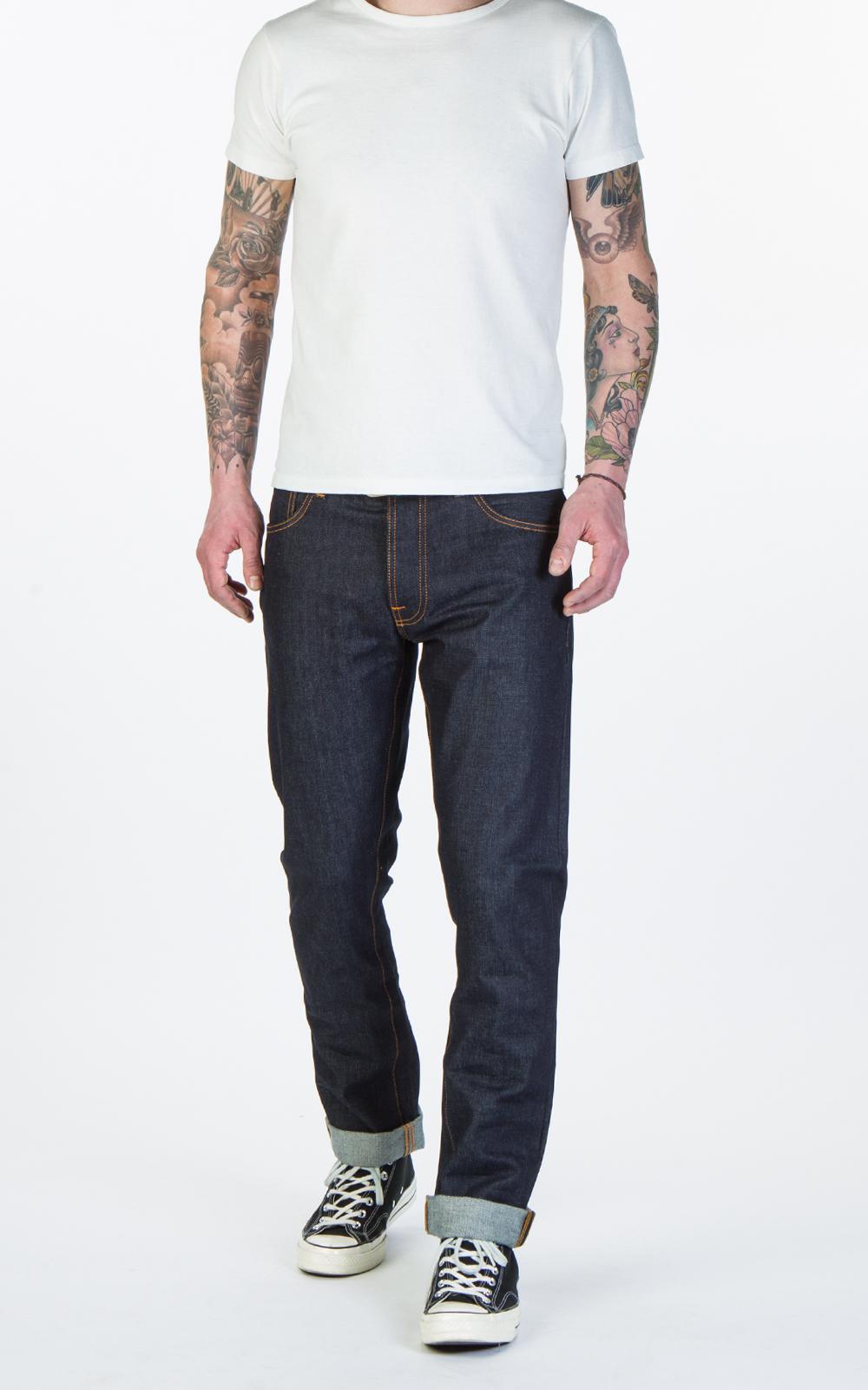 e49b7dc7840c4 Lyst - Nudie Jeans Dude Dan Dry Classic Navy 13.5oz in Blue for Men