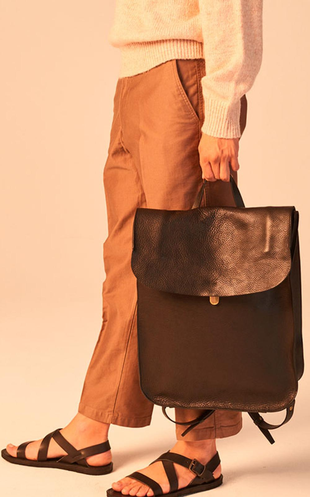 Bleu De Chauffe Arlo Leather Backpack Black in Black for Men - Lyst fc15a11faa860
