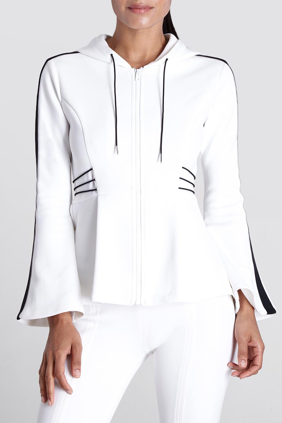 8aca377960a3 Lyst - Cushnie Et Ochs White/black Nela Hooded Jacket in White