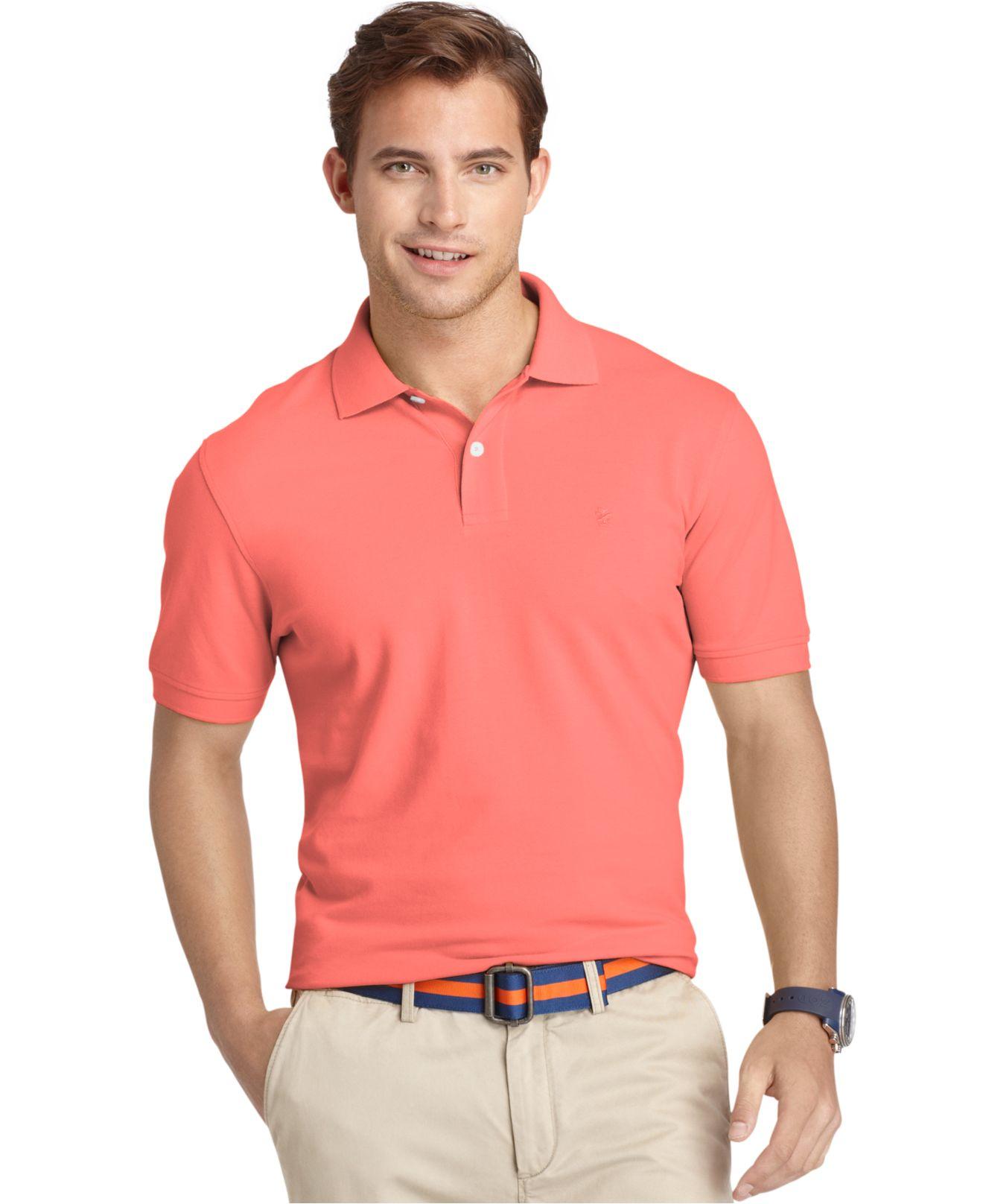 Lyst izod big and tall shirt short sleeve pique polo in for Izod big and tall shirts