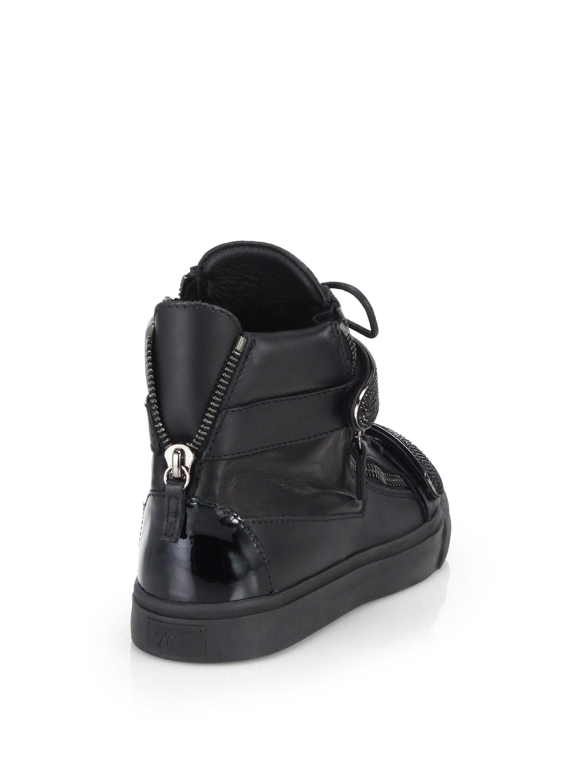 textured sneakers - Black Giuseppe Zanotti yXamqm