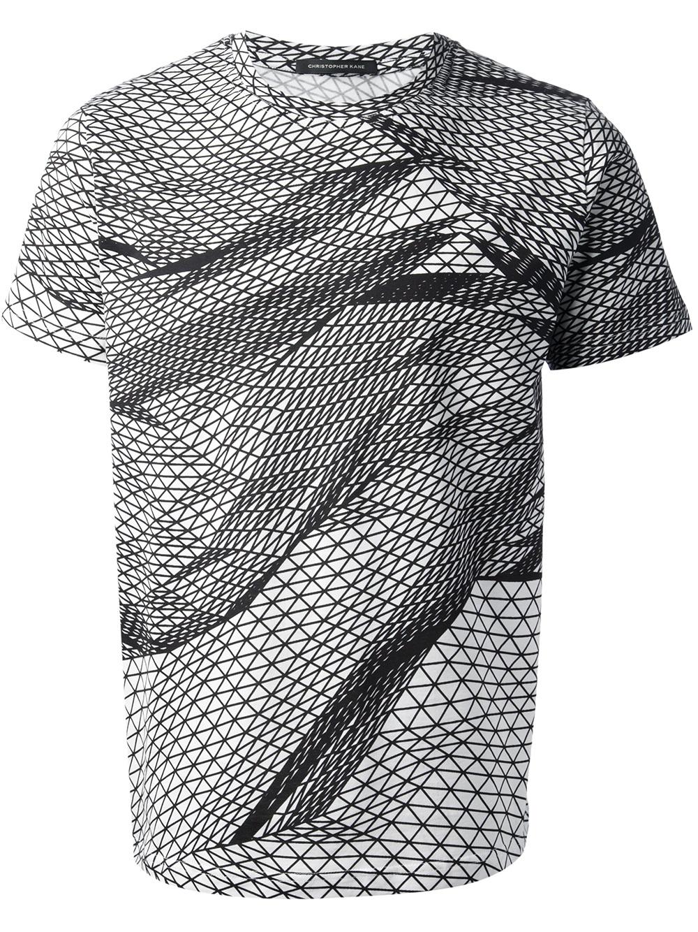 christopher kane landscape digital printed tshirt in white