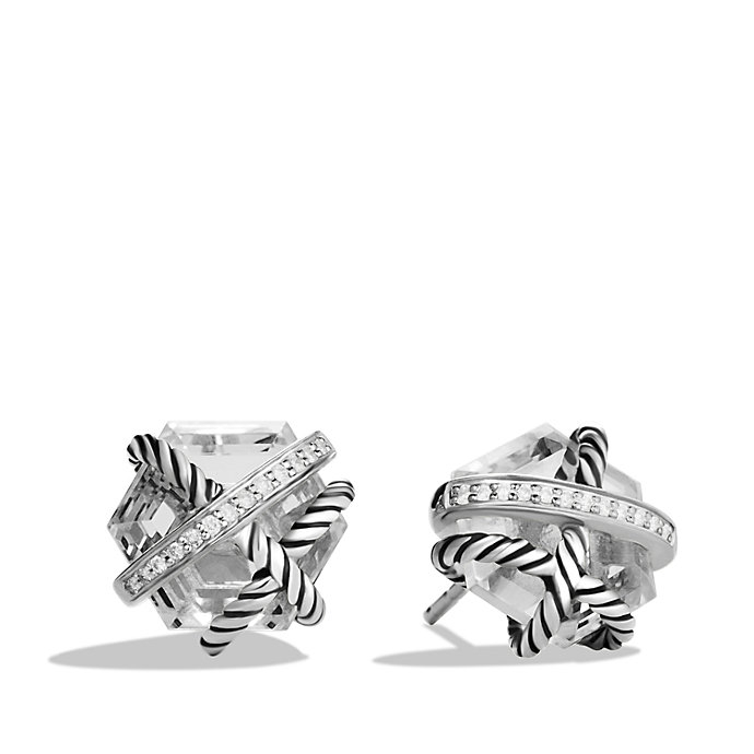 david yurman cable wrap earrings with and diamonds