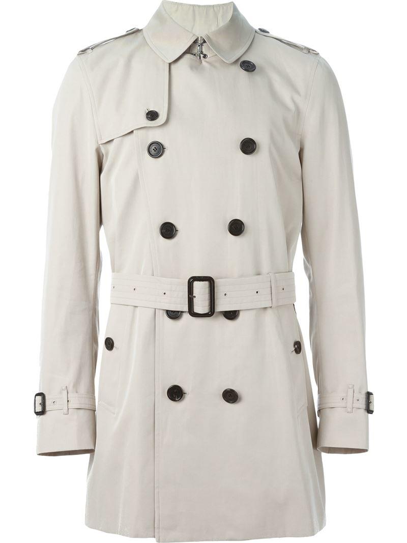 burberry trench coat in natural for men lyst. Black Bedroom Furniture Sets. Home Design Ideas