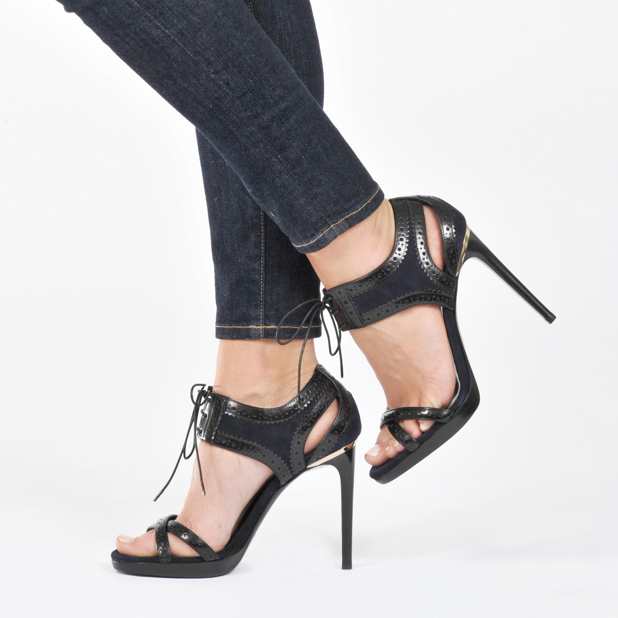 burberry gauld high heel sandal in lyst