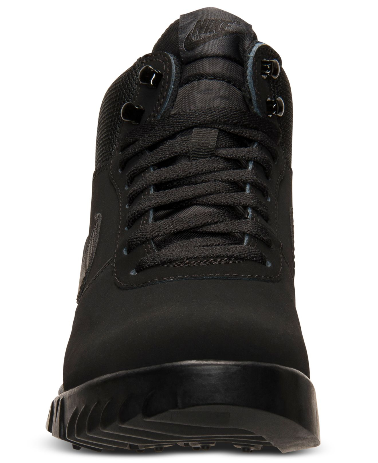 Nike Mens Hoodland Suede Boots From Finish Line In Black -7596