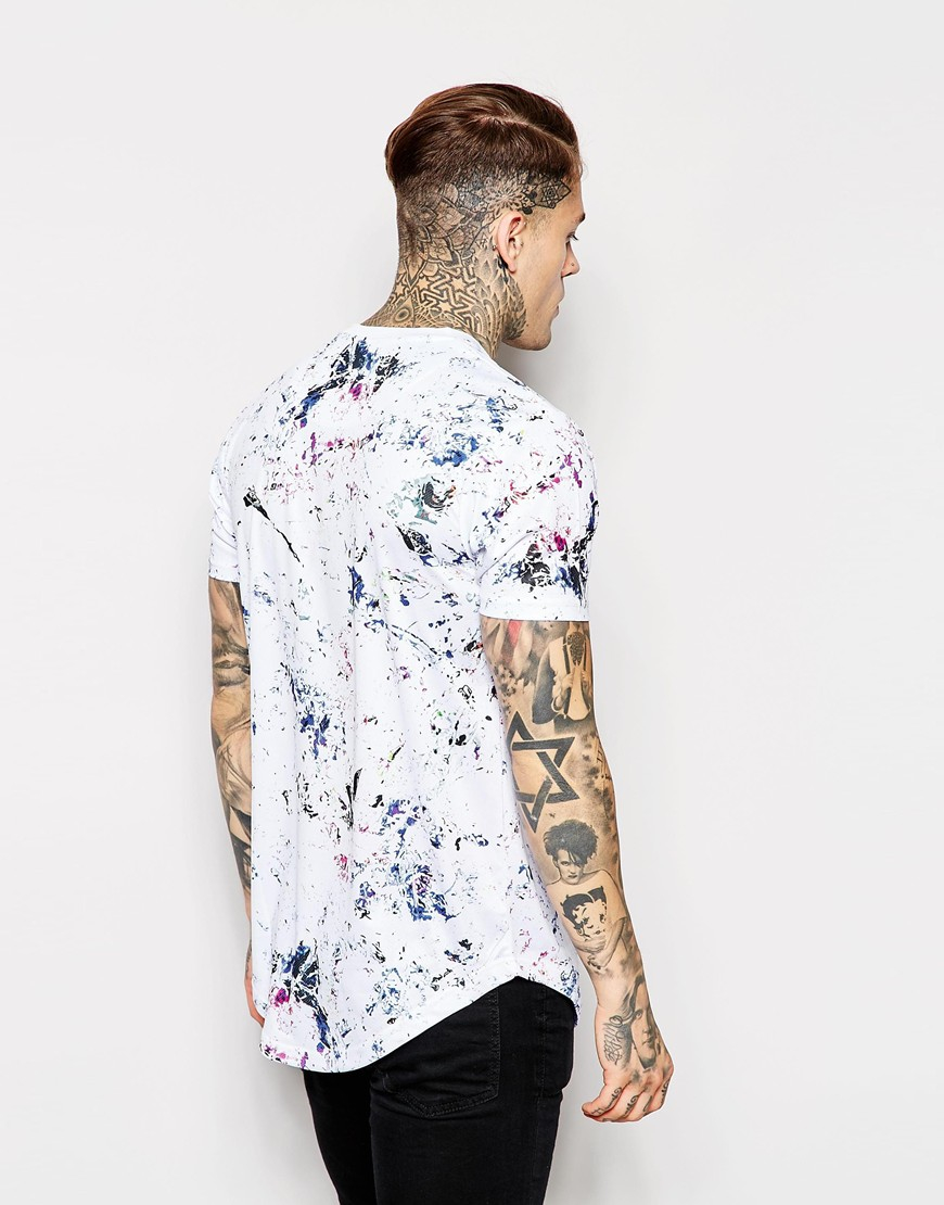 Lyst good for nothing t shirt in paint splatter print for Paint on clothes