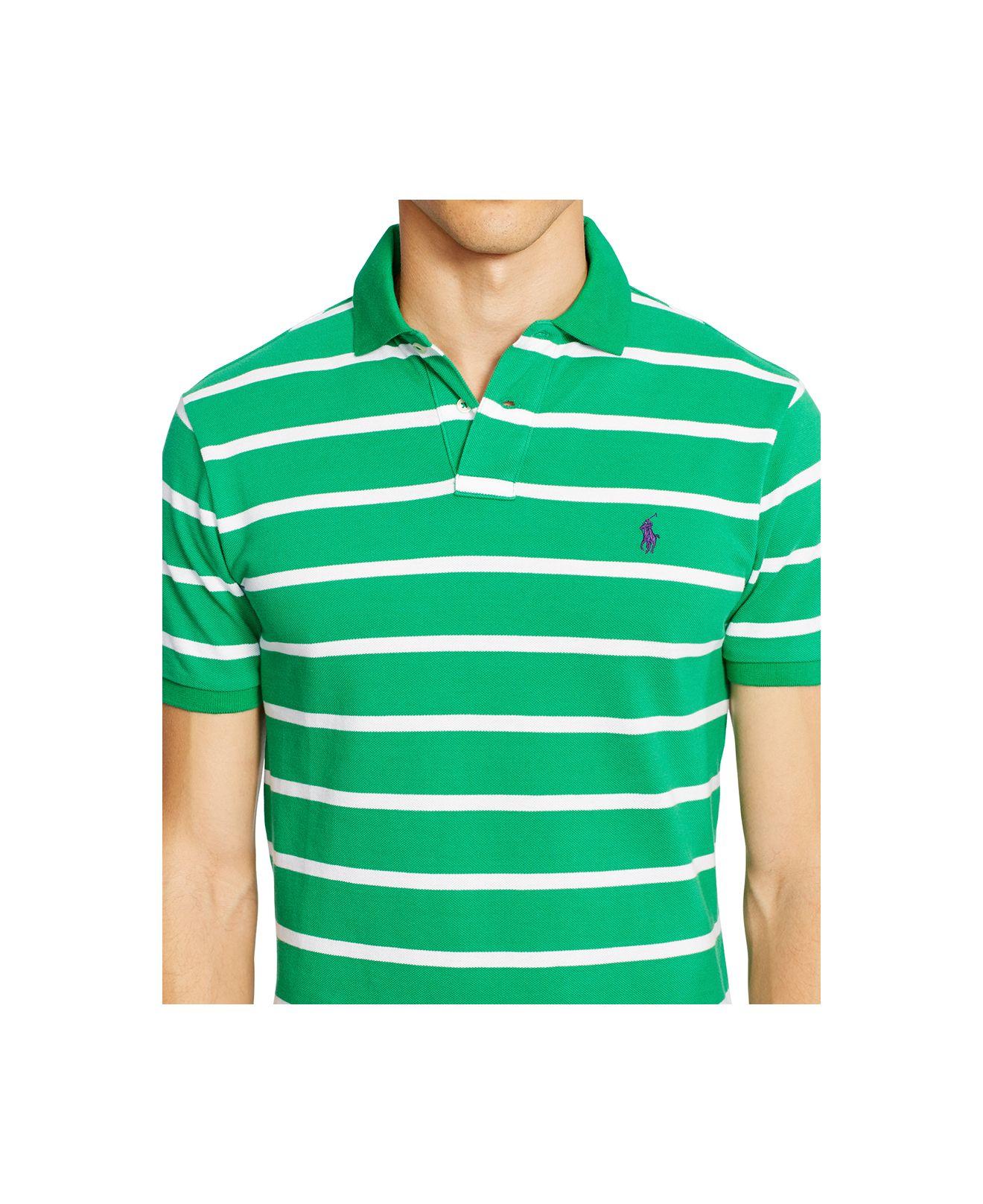 b58a87098 ... amazon lyst polo ralph lauren mens classic fit striped mesh polo shirt  11a04 e36bf