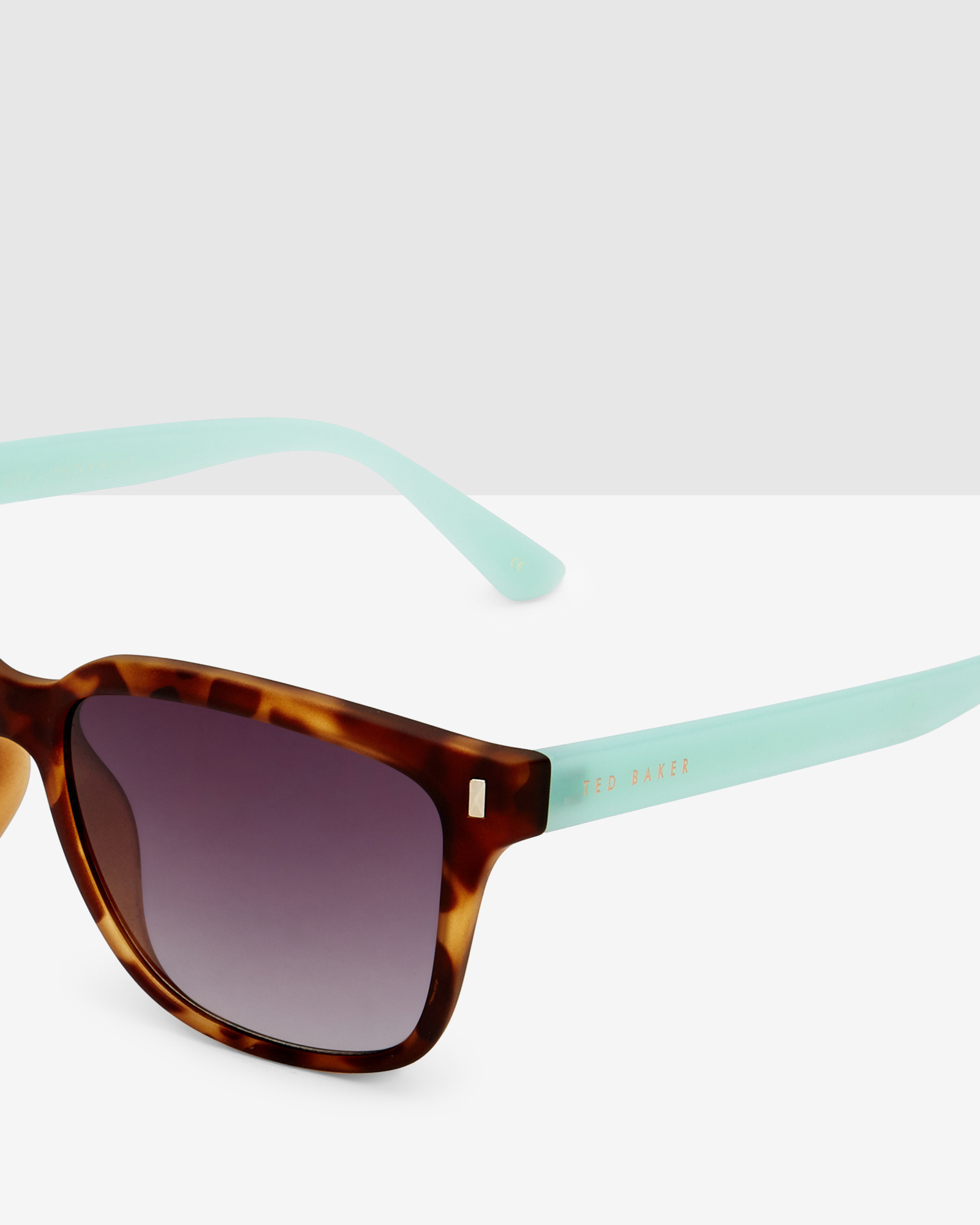 1e18563f578 Ted Baker Contrast Arms Sunglasses in Brown - Lyst