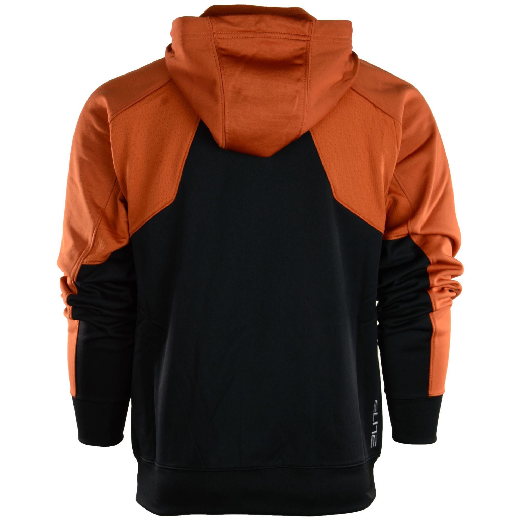 Nuggets Yellow Warm Up Jacket: Nike Mens Texas Longhorns Thermafit Fullzip Hoodie In