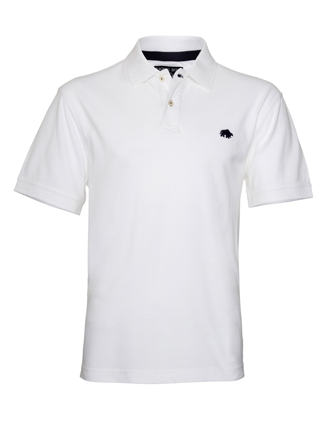 Raging bull big and tall new signature polo shirt in white for Big and tall custom polo shirts