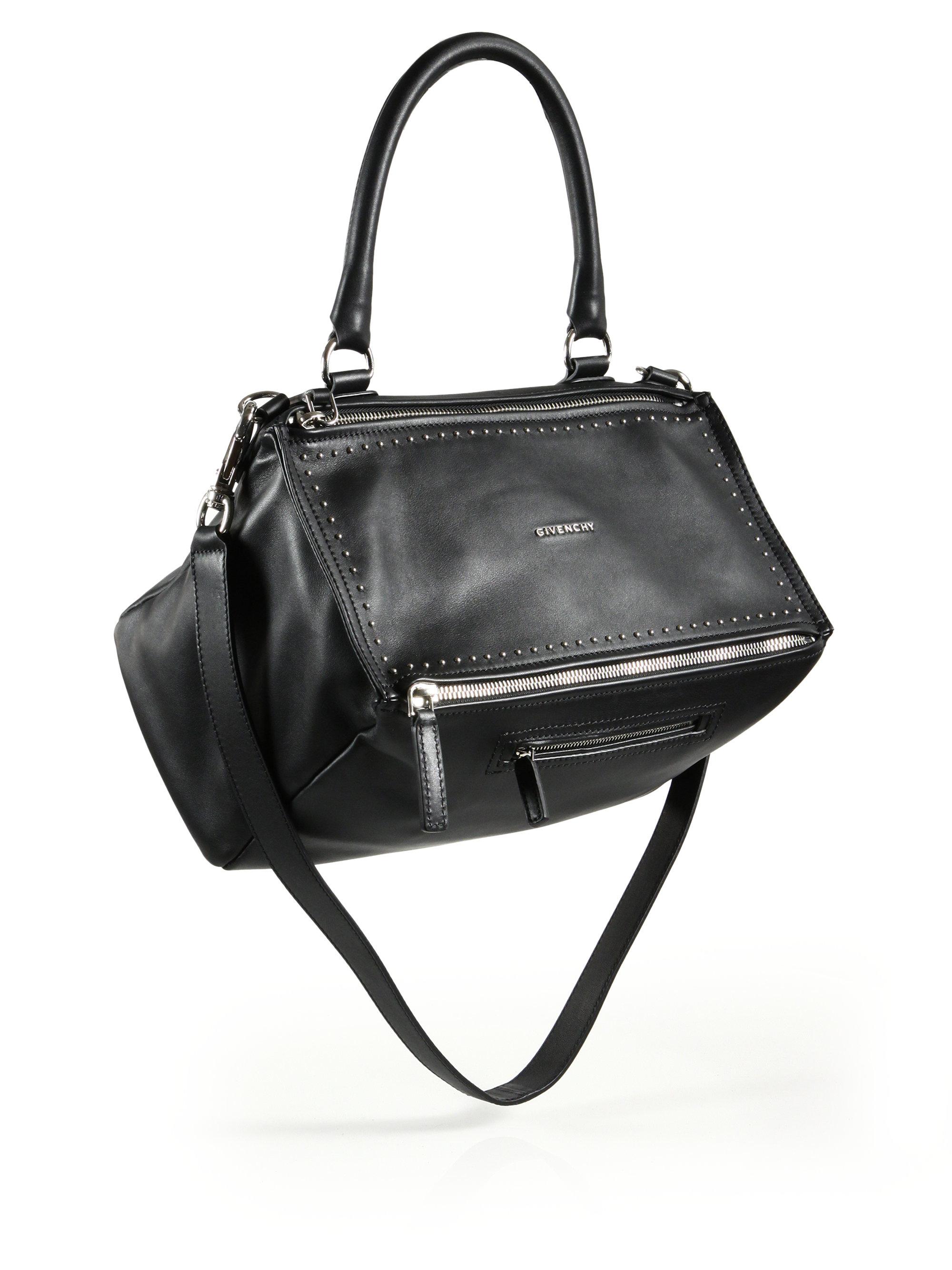 3c69f8b7b6b3 Lyst - Givenchy Pandora Medium Studded Leather Shoulder Bag in Black