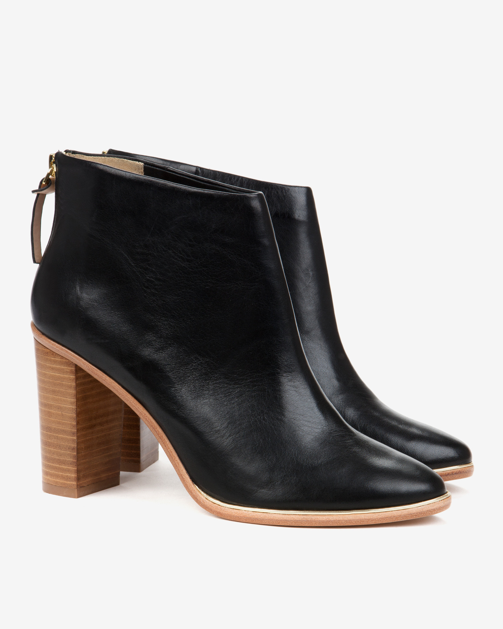 Ted Baker Leather Heeled Ankle Boots In Black Lyst
