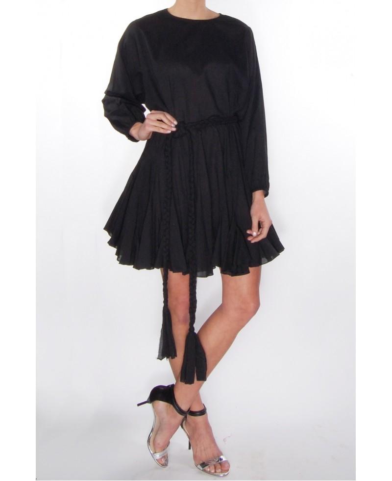 Rhode Resort Ella Belt Dress In Black In Black Lyst