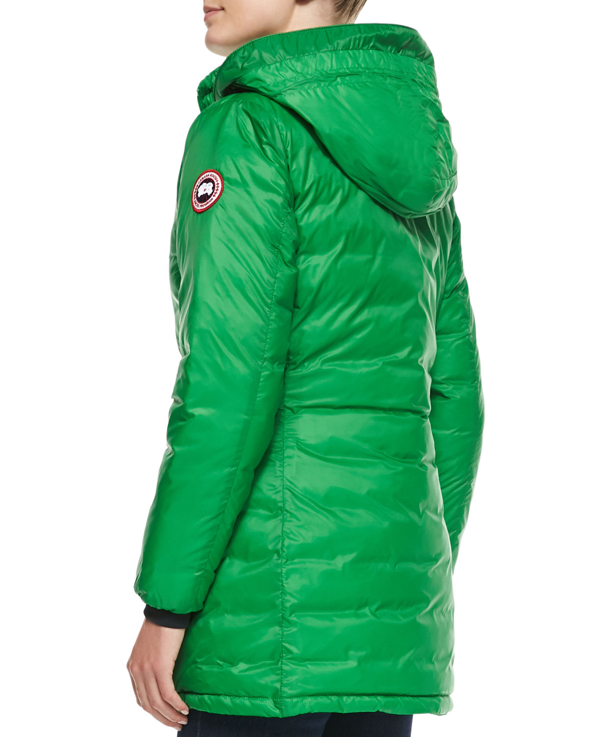 Canada Goose montebello parka outlet discounts - Canada goose Camp Hooded Mid-length Puffer Coat in Green (JADE ...