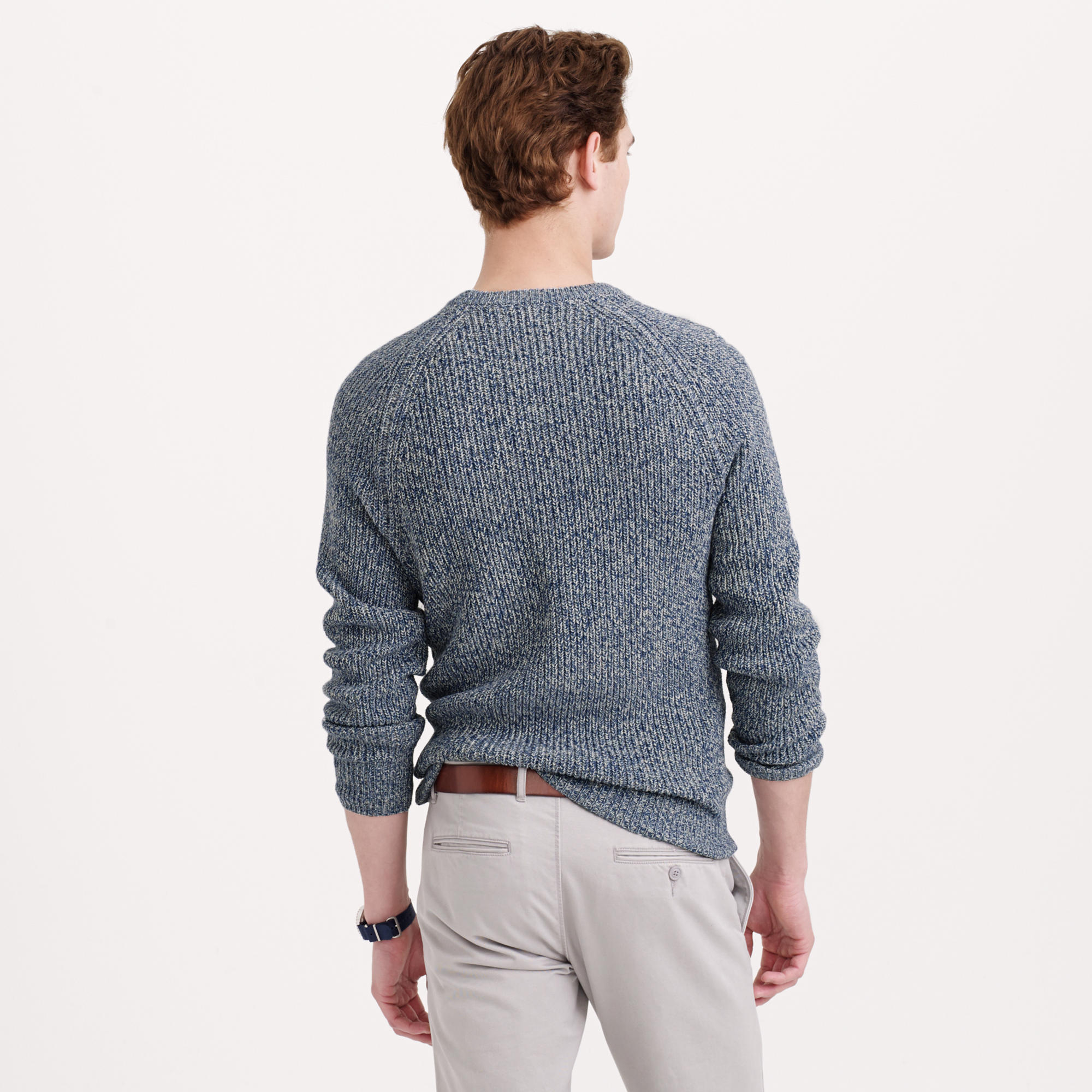 J.crew Marled Cotton Crewneck Sweater for Men | Lyst