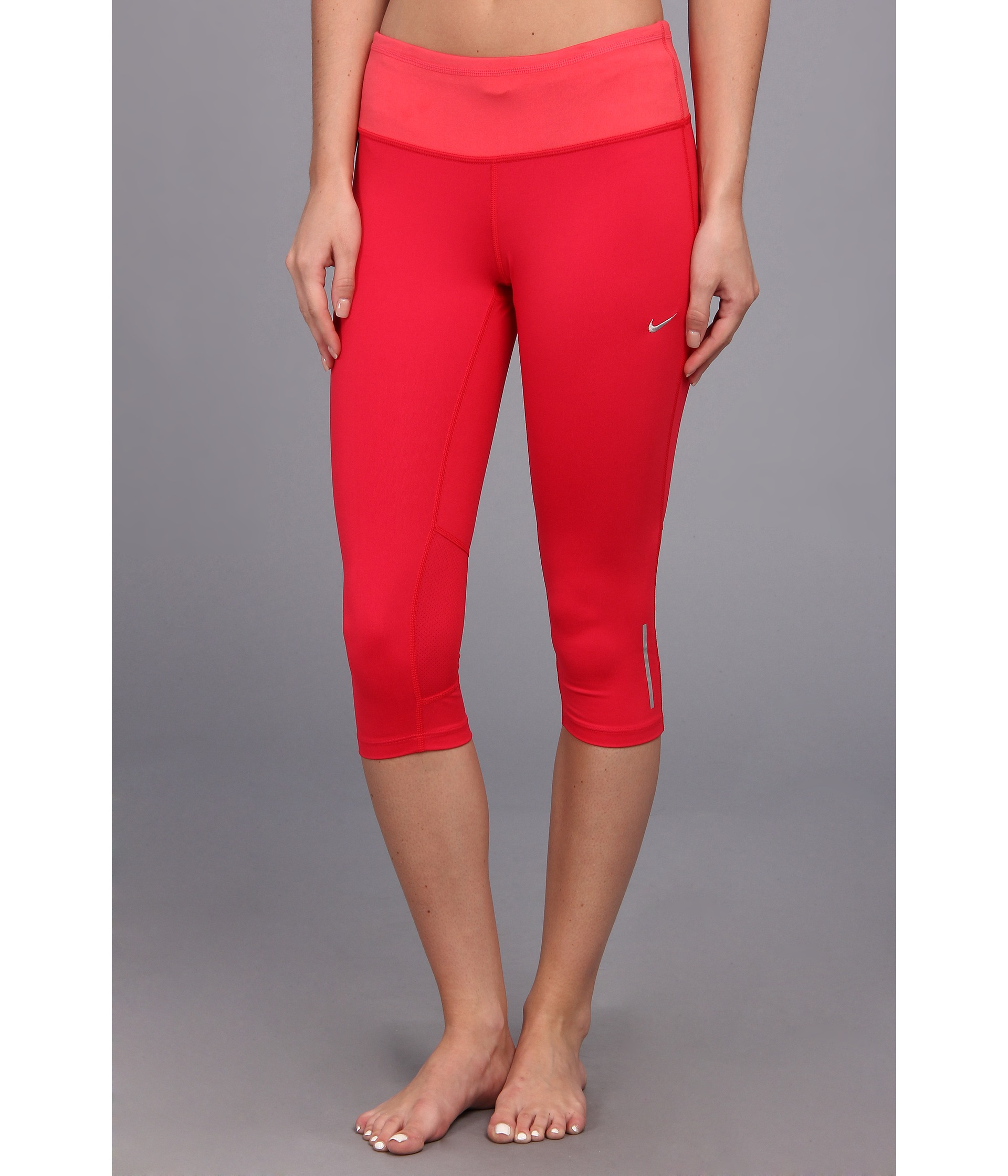 Nike Drifit Epic Run Capri in Red | Lyst