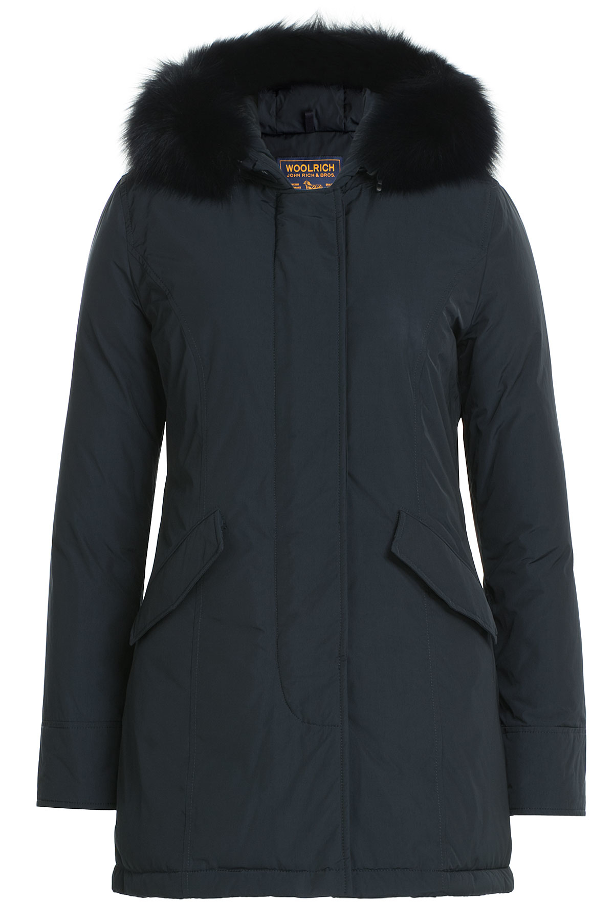 woolrich luxury arctic fox parka with fur trimmed hood blue in blue lyst. Black Bedroom Furniture Sets. Home Design Ideas