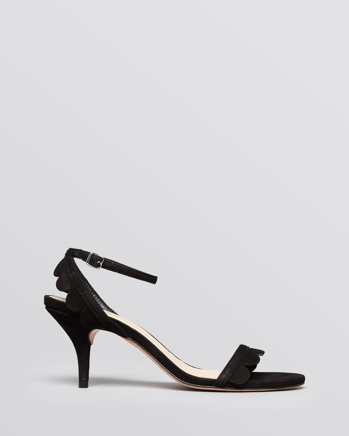 Loeffler randall Ankle Strap Sandals Lillit Scallop Mid Heel in