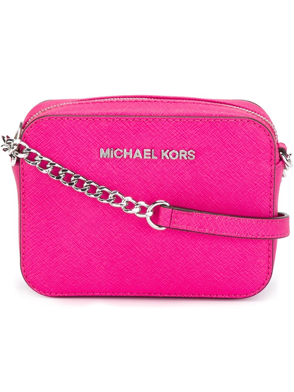 michael michael kors pink purple mini jet set crossbody bag pink. Black Bedroom Furniture Sets. Home Design Ideas
