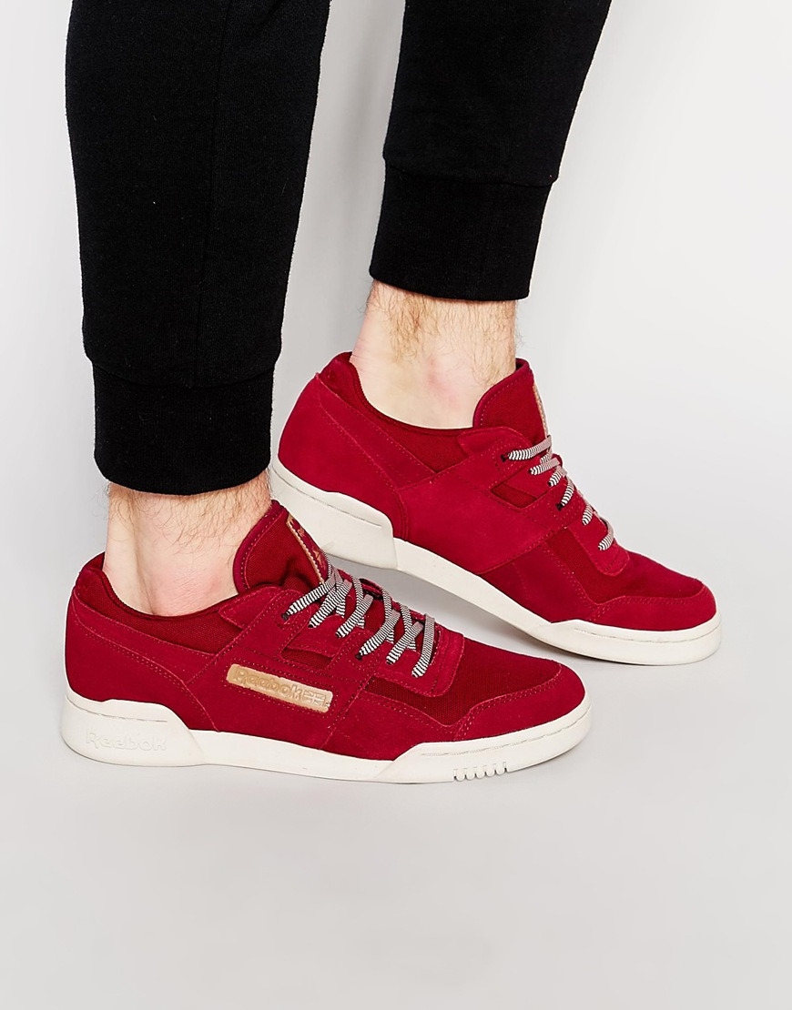 4db5b173f45 Reebok Workout Plus Utility Trainers In Red Aq8828 in Red for Men - Lyst