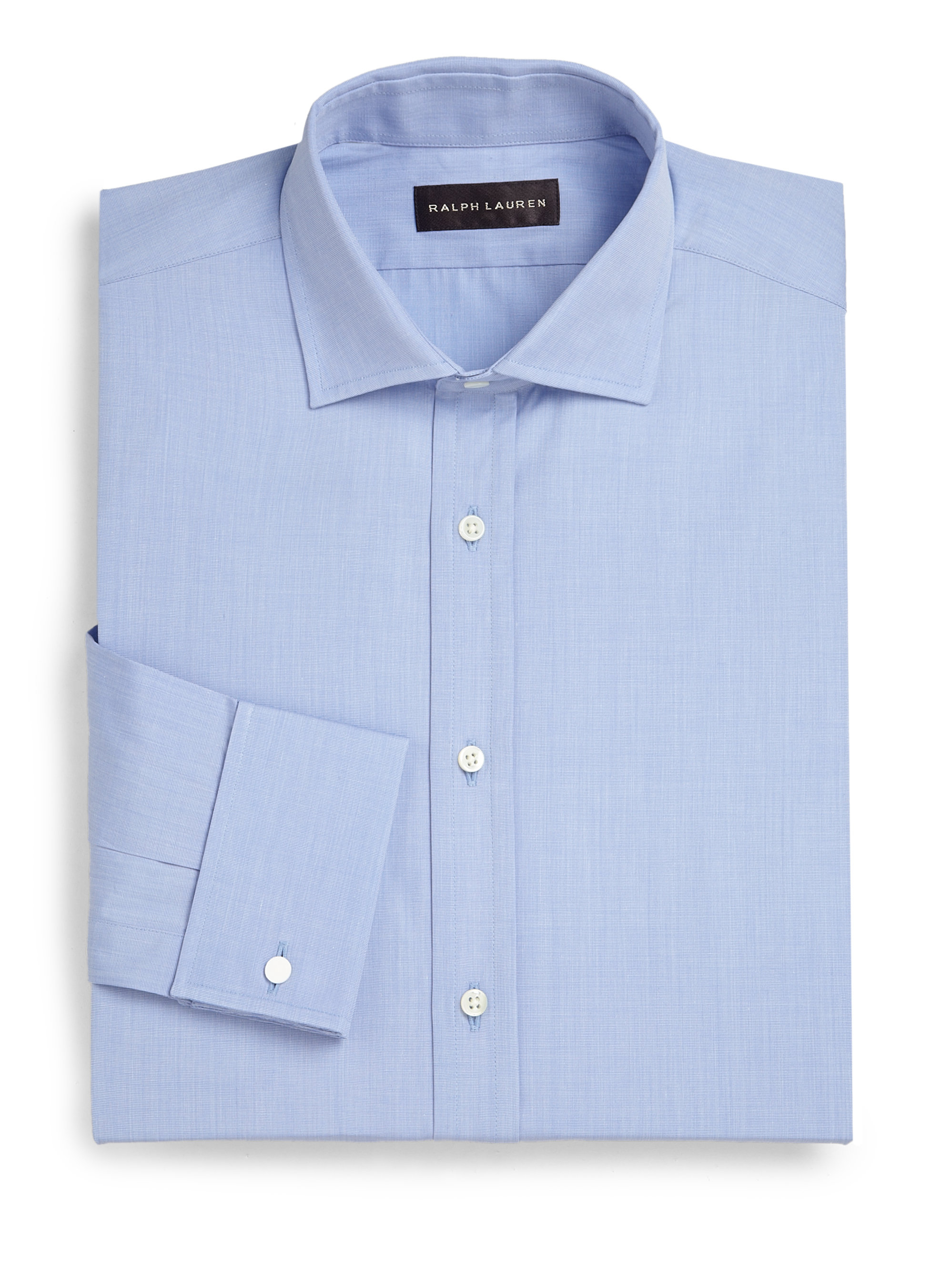 Ralph Lauren Classic Fit French Cuff Dress Shirt In Blue