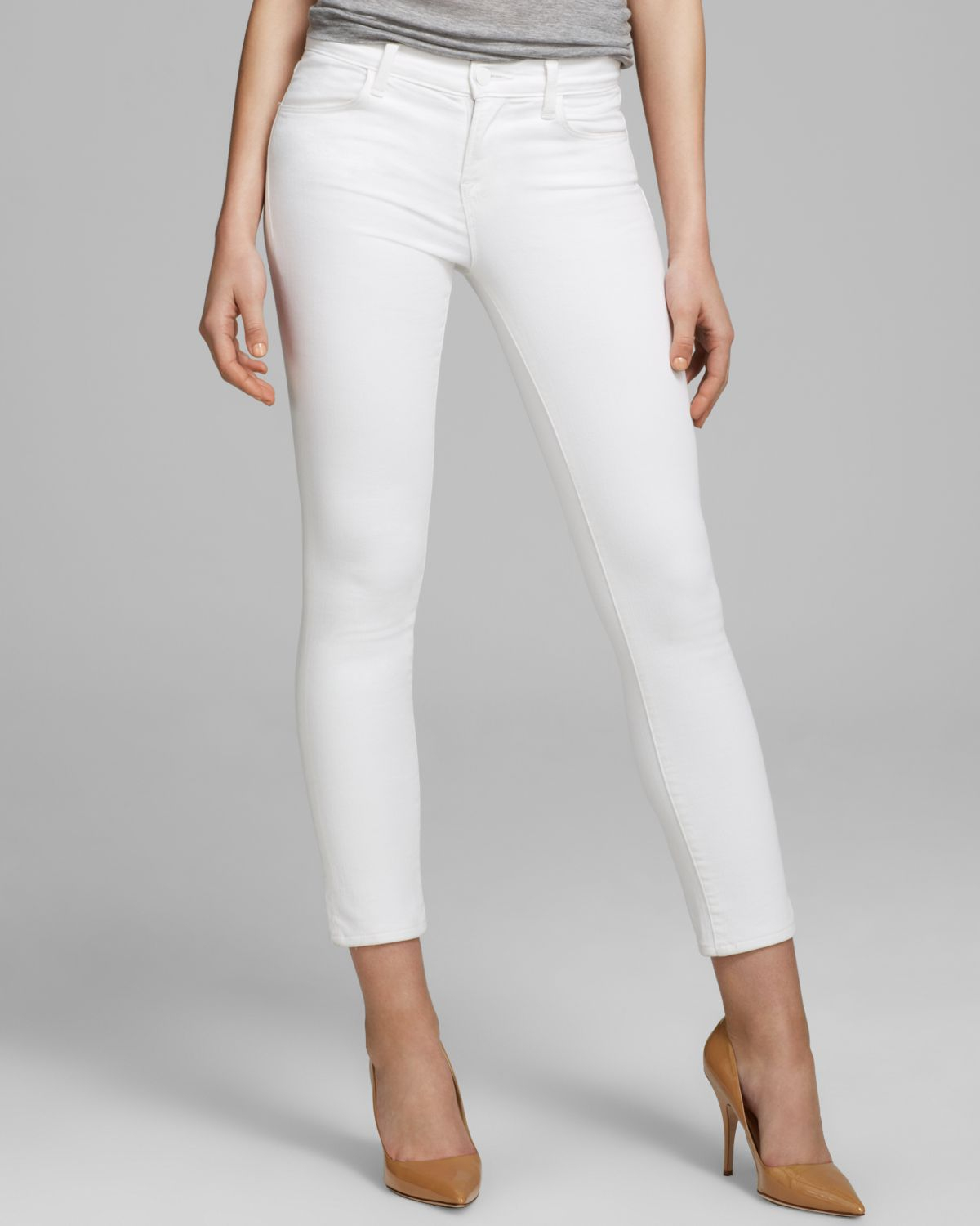 slim-fit cropped jeans - White J Brand