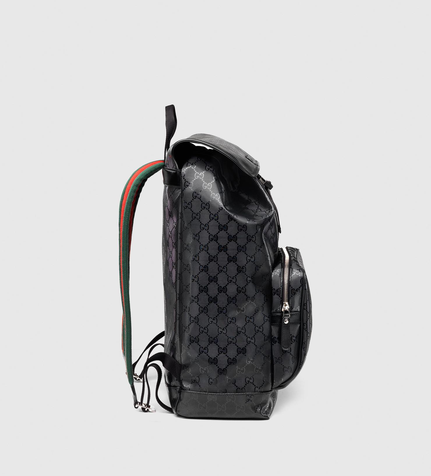 dbea2da8cb17 Lyst - Gucci 500 By Gg Imprimé Backpack in Black