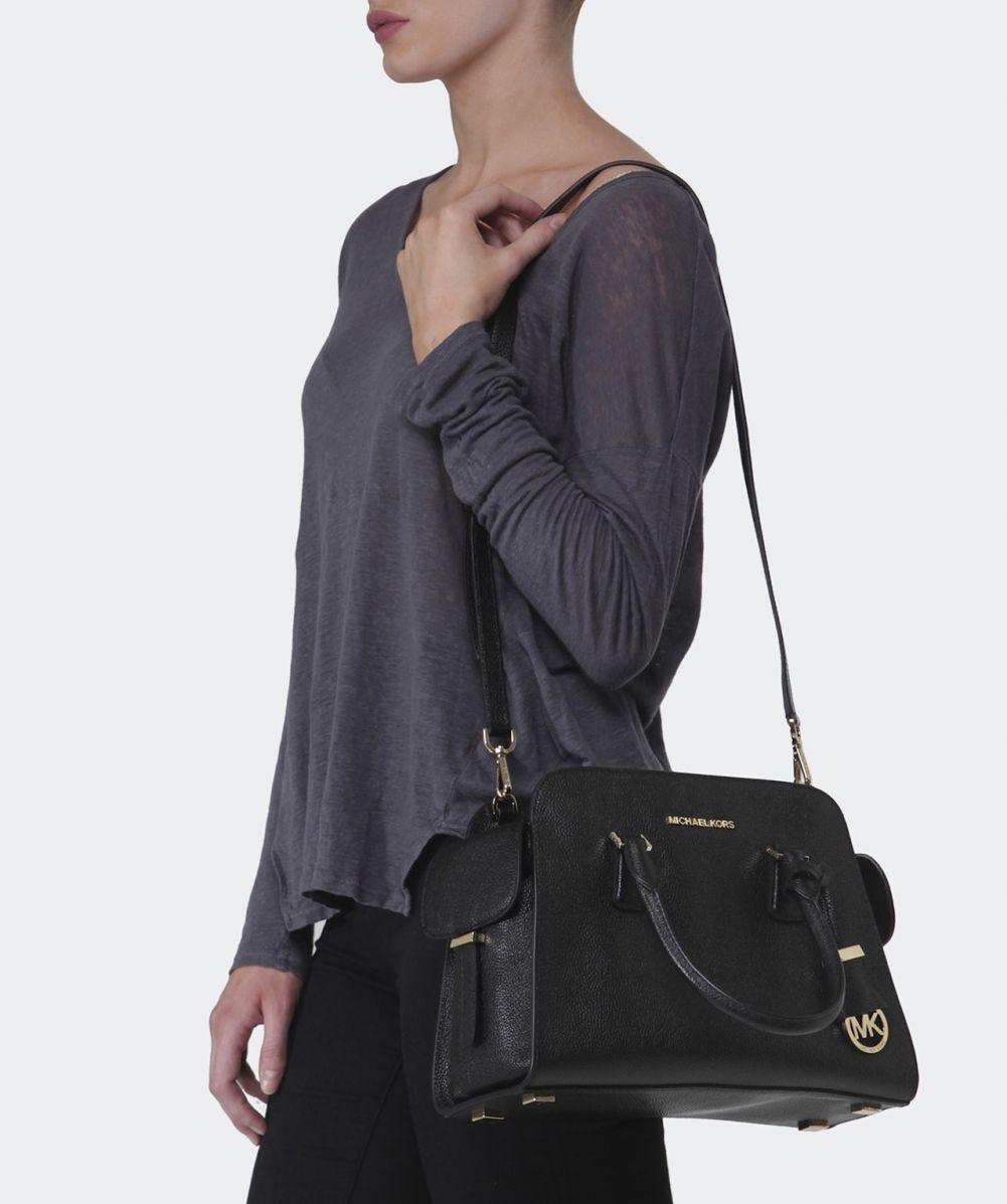 black and gray michael kors bag 2tin  Gallery