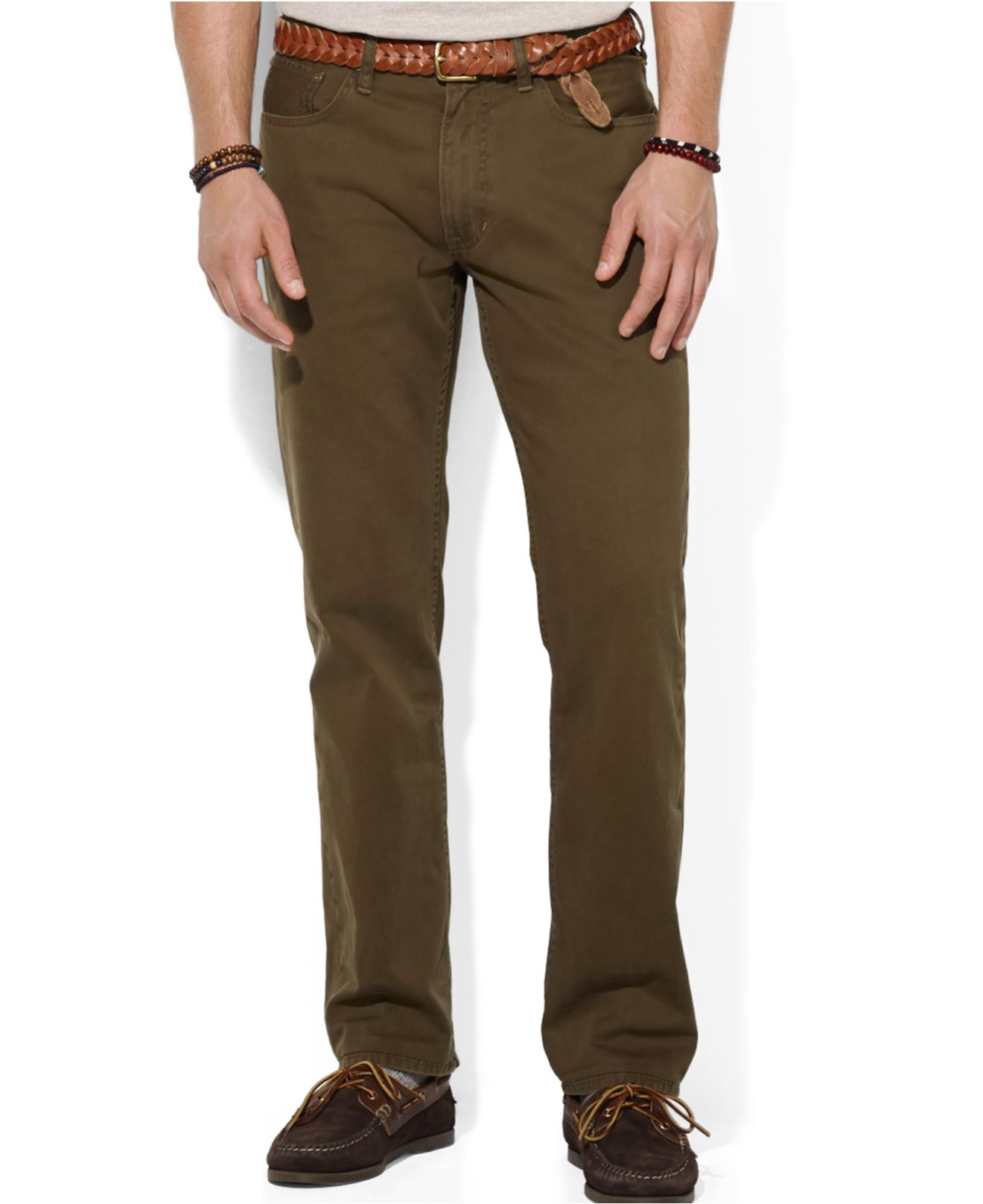19013075bee6 Lyst - Polo Ralph Lauren Straight-fit 5-pocket Chino Pant in Natural ...