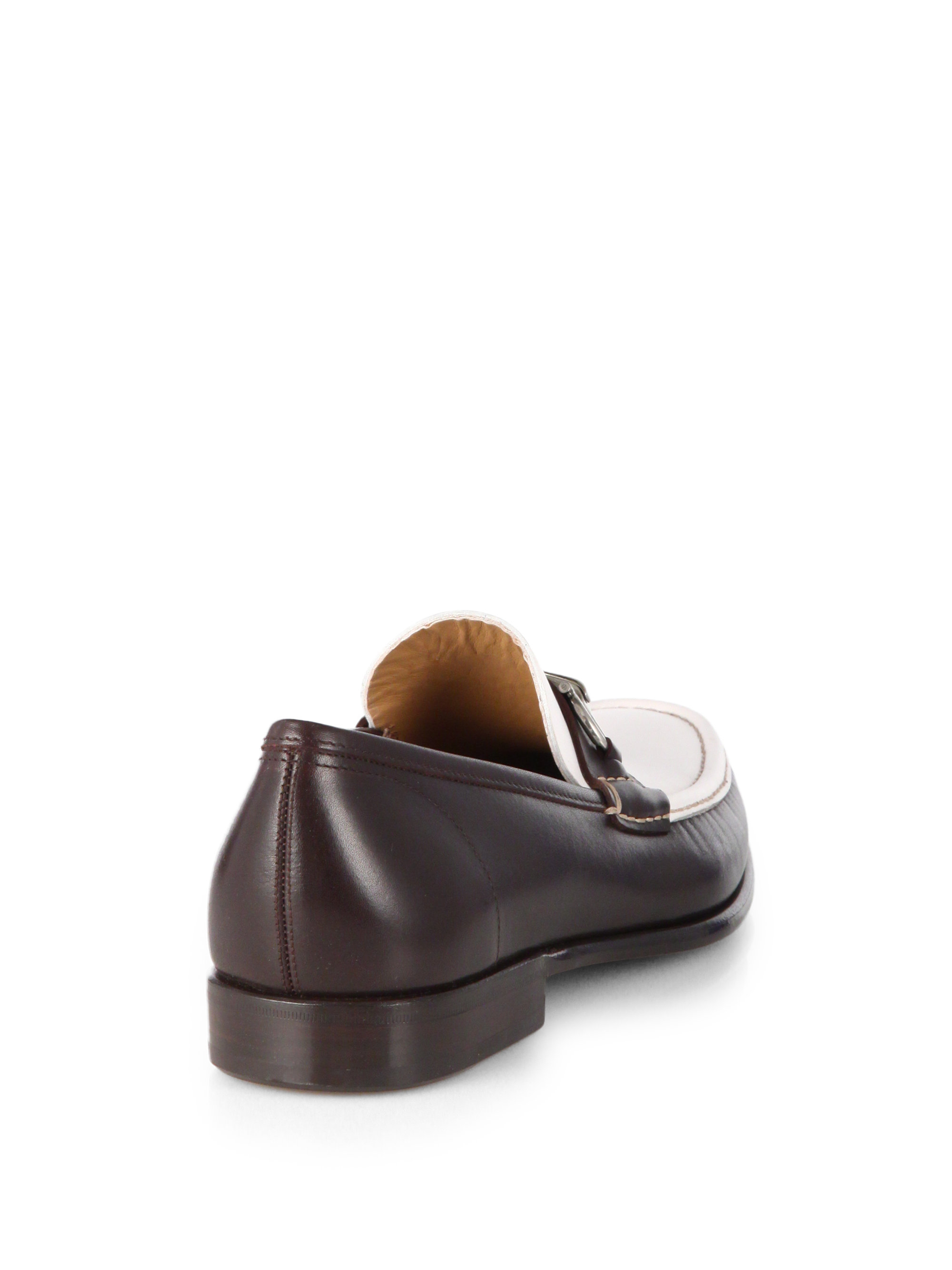 Ferragamo Raffaele Slip-on Bit Loafers in Brown for Men | Lyst
