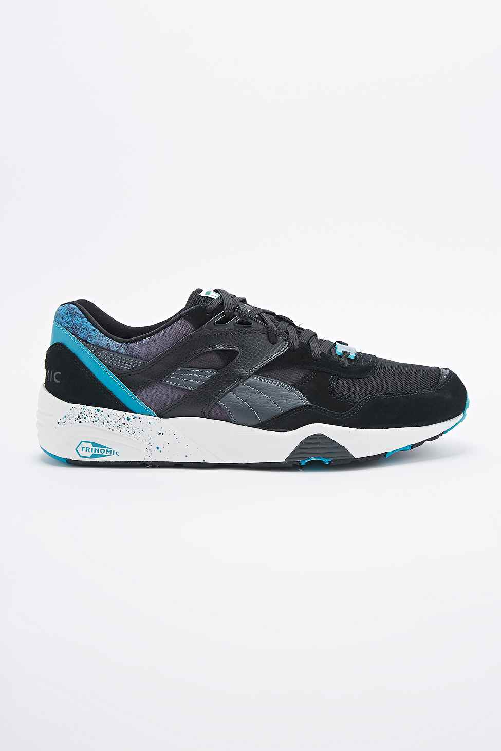 ... official store puma trinomic r698 splatter trainers in black in blue  for men lyst 40154 72623 27e635a4a