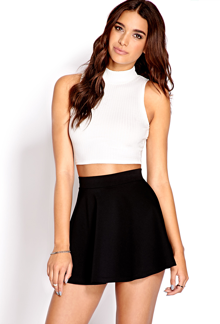 21 Best Grow Your Tarot Business Online Images On: Forever 21 Fresh Ribbed Crop Top In White