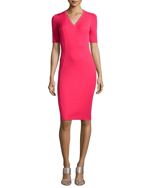 short sleeve sheath dress ejn dress