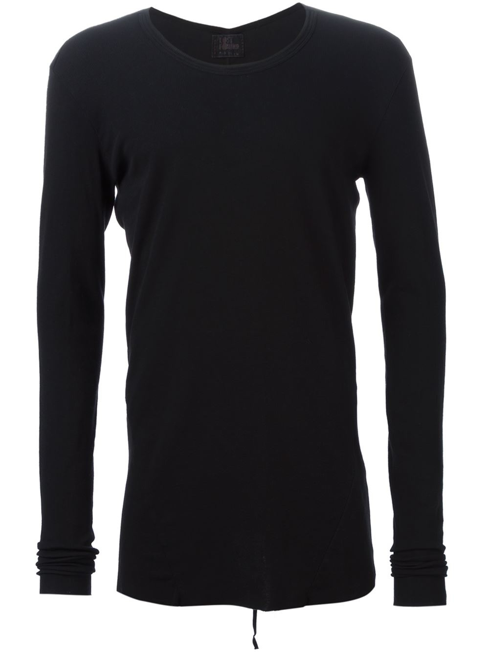 Lost Found Cut Long Sleeve T Shirt In Black For Men Lyst