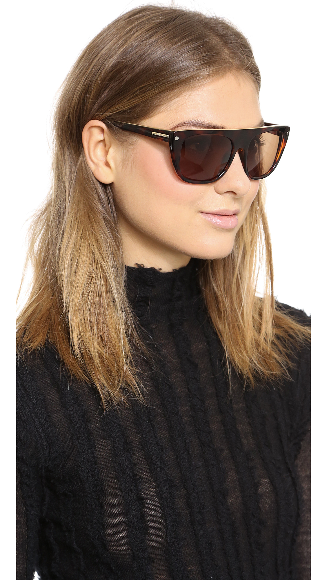 c3370826b3 Givenchy Flat Top Sunglasses in Brown - Lyst